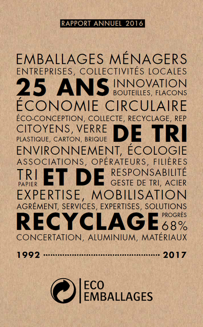 Rapport annuel Eco-Emballages 2016
