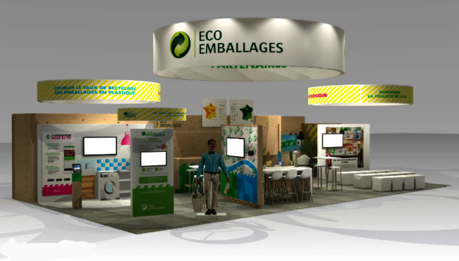 Stand d'Eco-Emballages au salon Pollutec 2016